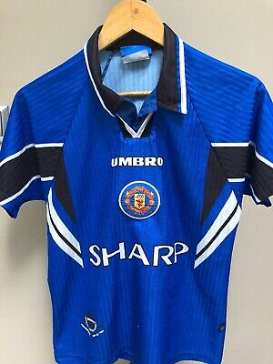 Manchester United FC Rare Football Away Shirt 1996-97 3rd Kit Umbro Boys 12-13