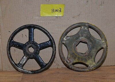 "2 Kennedy valve & Powell hand wheel industrial 8"" diameter steam punk HW3"