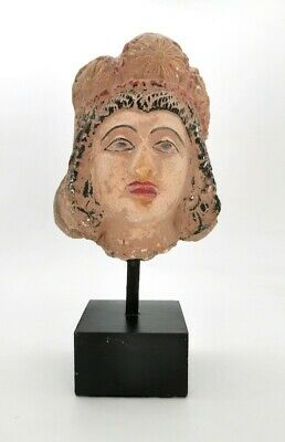 Ancient Roman Ca.100 Ad Terracotta  Head Of A Lady  R2