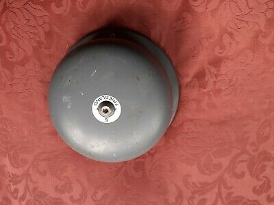 Old vintage Old industrial bell / fire bell / Grey