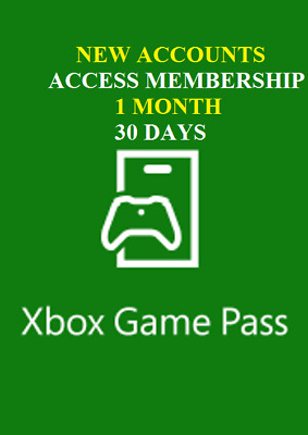 1 Month(30 days)  Xbox Game key Pass Xbox One subscription