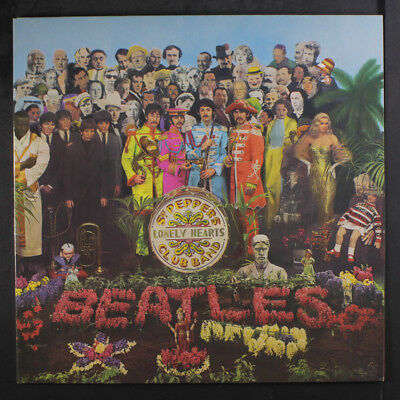 BEATLES: Sgt. Pepper's Lonely Hearts Club Band LP (Netherlands reissue, yellow