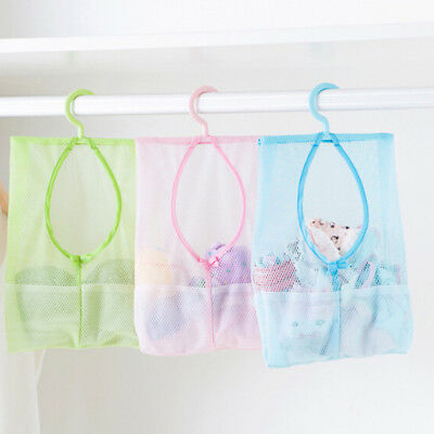 Bathroom baby toy bag multifunctional hanging storage mesh bags baby toy TPI