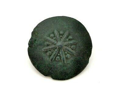 Ancient Roman Bronze Umbonate Type Brooch With Pin R 31