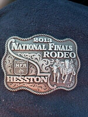 Hesston 2013   NFR National Finals Rodeo Western PICA Belt Buckle