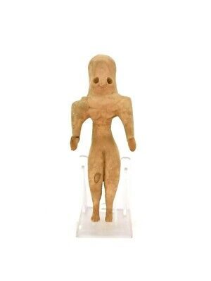 Ancient Indus Valley Civilization Terracotta Seating Fertility Idol R30