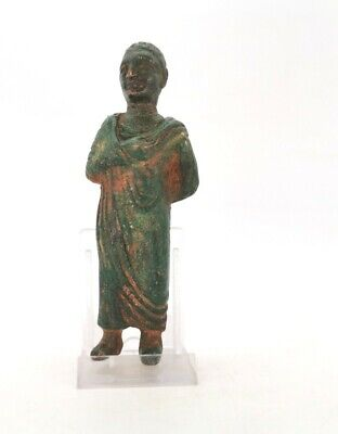 Ancient Rare Roman Bronze Statue Of A Aristocrat  R 34