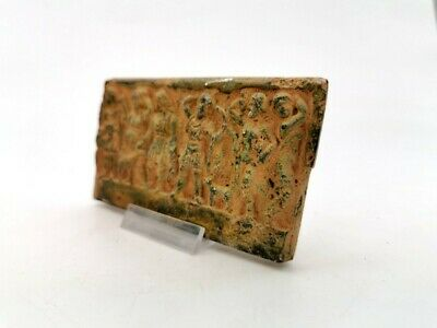 Ancient Roman Bronze Plaque Depicting Ceremonial Scenes  - R 40