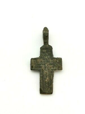 Medieval Knights Templar Bronze Cross With Suspension Loop  R45