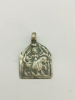 Medieval Knights Templar Silver Icon Depicting Beast & Rider   R46