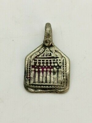 Medieval Knights Templar Silver Enamelled  Icon Depicting Temple    R58