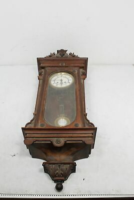 Antique German Junghans Vienna Wall Clock Excellent for Parts or Repair