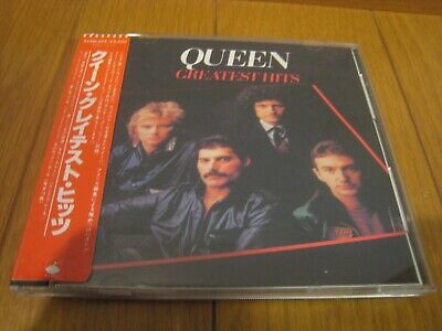 QUEEN Greatest Hits Japan CD sticker-OBI '85 32XD-329
