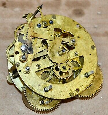 Antique 8 Day Time Strike Seth Thomas Model 48R Clock Movement for Parts