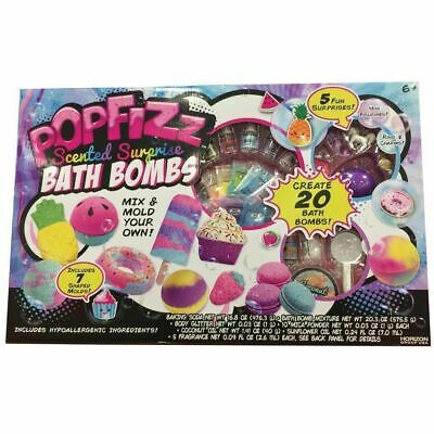 Pop Fizz Make Your Own 20 Surprise Scented Bath Bombs Mix & Mold Your Own