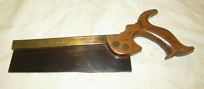 Drabble & Sanderson made for Gleave Manchester brass back tenon saw old tool