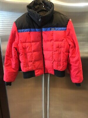 SLALOM Mens Warm Winter Full Zip Jacket Coat Made in USA, Men's Large, Red Down