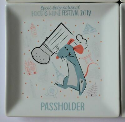 Disney Parks EPCOT Food And Wine Festival 2019 Chef Remy Passholder Plate New