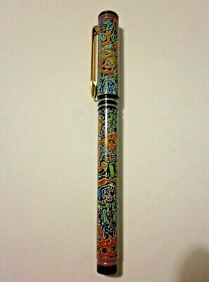 Vintage WATERMAN FORUM, RARE ABSTRACT DESIGN, MEDIUM FOUNTAIN PEN-FRANCE.