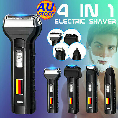4In1 Rechargeable Electric Razor Shaver Waterproof Cordless Trimmer Bald Head Q