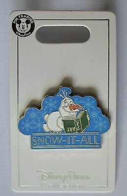 Disney Parks Frozen Olaf Snow It All Open Edition Pin 2019 New
