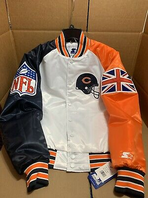 LIMITED EDITION 2019 Chicago Bears Starter Black Label London NFL 100 Jacket XL