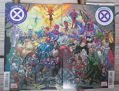House of X #6 and Powers of X #6 connecting variant covers Marvel Comics