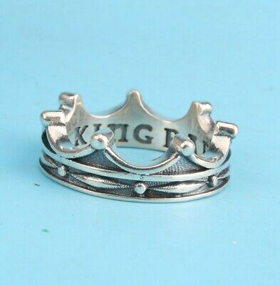 Preciou China 925 Silver Ring Statue Crown Solid Lady Decoration Gift