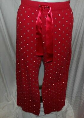 SONOMA Women's Red Thermal Polka Dot Sleep Lounge Pants Size XXL