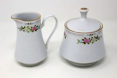 Crown Ming Jian Shiang Fine China Creamer and Sugar Bowl Set - Bird of Paradise