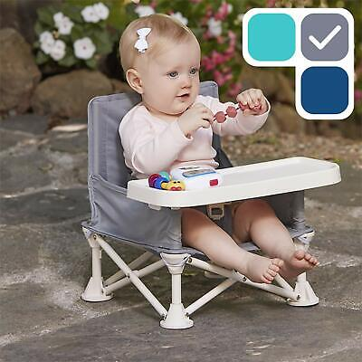 hiccapop Omniboost Travel Booster Seat with Tray for Baby | Folding Portable Hig
