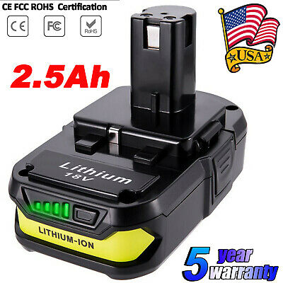 P108 For RYOBI P102 P103 P104 P105 P106 P107 P109 18V Lithium ONE+ Plus Battery