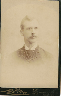Cabinet Card Of Young Man Arthur Perkins Dated 1888 - Photographed Paterson N.j.
