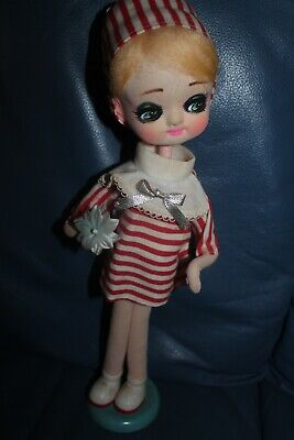 "vintage 1960's POSE DOLL MADE IN JAPAN MOD 14"" TALL ON STAND VGC"