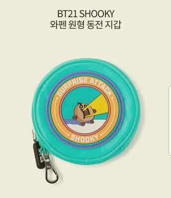 BT21 BTS Authentic Official SHOOKY Waffen circular coin purse free shipping KPOP
