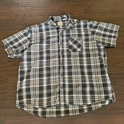 Red Head brand co. mens plaid short sleeve button up 3XL