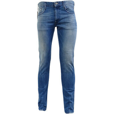 Replay Anbass Distressed Finish Slim-Fit Jeans New with Tags Sizes 34//30 /& 34//32