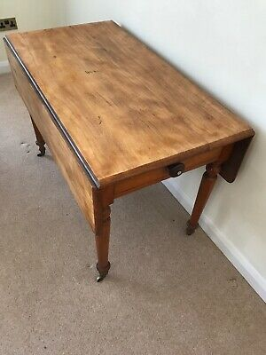 antique Georgian Victorian mahogany Pembroke Drop Leaf Hall Side Dining Table