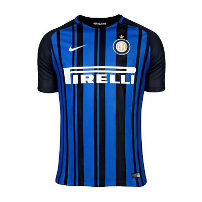 Boys Age 13-15 Inter Milan Official Nike 2017 - 2018 Home Shirt And Shorts