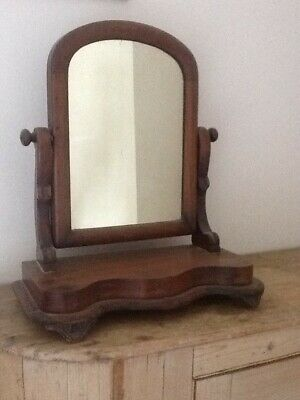Antique mahogany Victorian small table-top swing mirror in good condition
