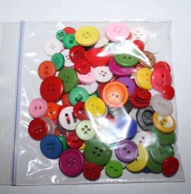 Bag of 100 Small Colorful Buttons