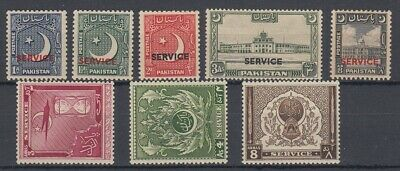 Pakistan 1949-1951 Official Sets MH or MNH , SG 027-034