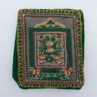 Antique Handstitched Tapestry And Beadwork Purse/Card Holder