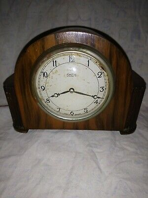 Vintage Smiths 8 day Clock For Spares Or Repairs
