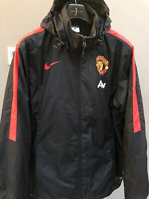 Mens Manchester United FC Football Nike Storm Fit Training Jacket Hooded Top L