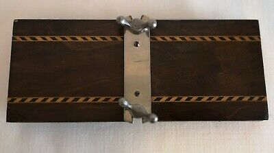Quality vintage wooden tie press with inlay decoration (free P&P)