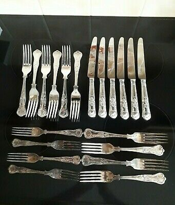 Part Set Of Kings Pattern Cutlery 20 Pieces Dinners Knives Forks Dessert Forks