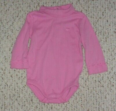 Pink Gymboree Turtleneck Bodysuit w/ Embroidered Heart, Candy Shoppe, 6-12 month