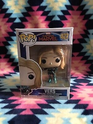 Funko Pop Marvel VERS Captain Marvel Figure #427