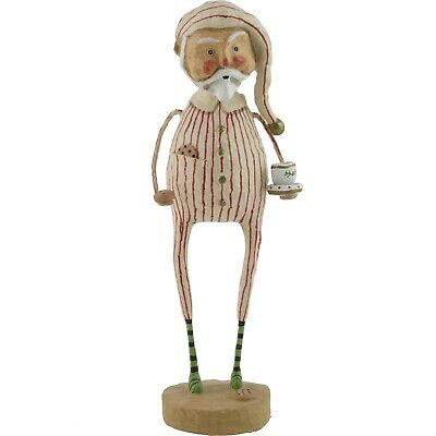 Lori Mitchell Late Night Snack Santa Claus Christmas Figure Folk Art Figurine